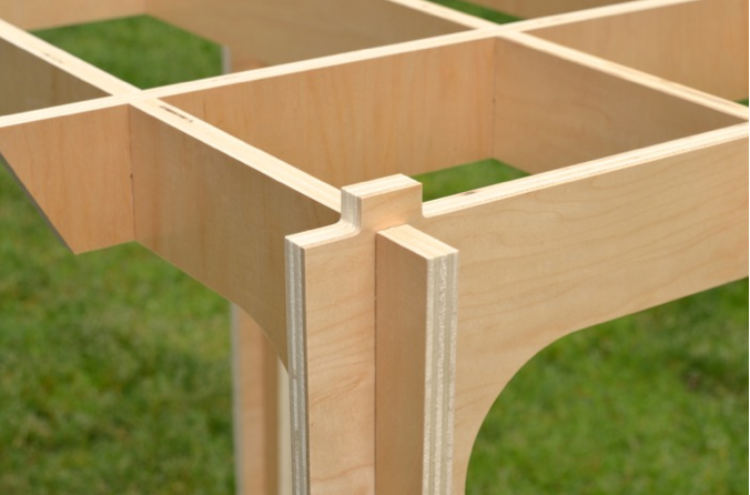 Interlocking, rigid structure with no screws