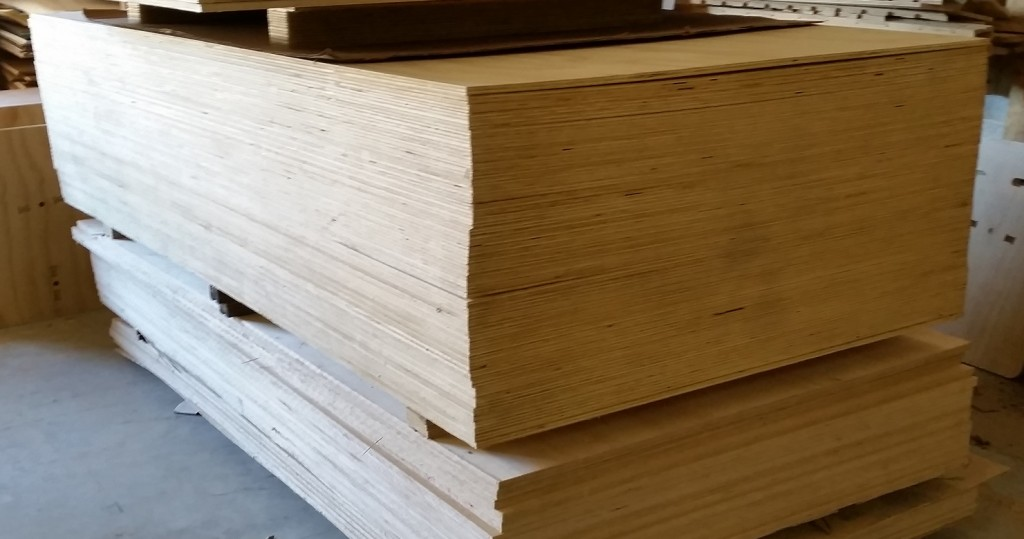 a pile of plywood