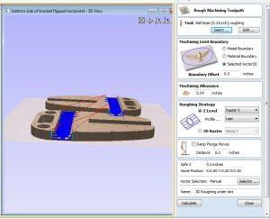 3D roughing pass
